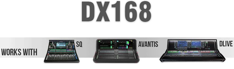 DX168 logo